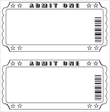 ticket template editable ticket template free best template exles