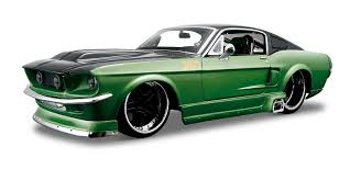Green And Black Mustang 1967 Ford Mustang Gt 1 24 Custom Shop Model Kit By Maisto