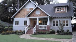 brick craftsman style ranch house plans images hahnow