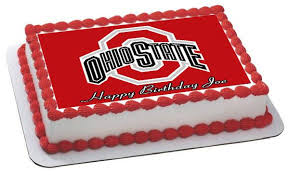 ohio state buckeyes edible cake or cupcake topper u2013 edible prints
