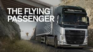 volvo track volvo trucks the flying passenger live test youtube