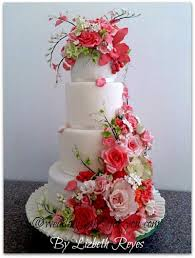 a pink wedding cake to go with a pink champagne cake recipe