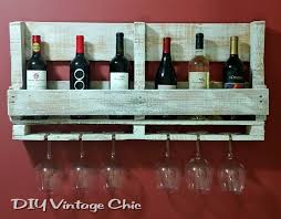 diy vintage chic pallet wine rack