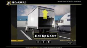 Professional Overhead Door by Pro Tread Trailer Door Safety Youtube