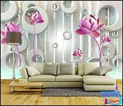 3d Wallpaper For Home Wall India Buy Swastik Flower Design U0027beautiful 3d Wallpaper Non Woven 8 X