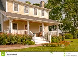 House With Front Porch White Suburban Home With Front Porch Stock Photography Image