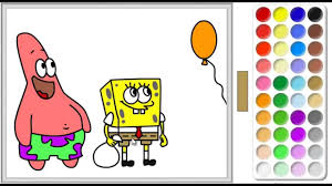 spongebob squarepants spongebob online coloring page youtube