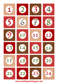 free printable christmas advent calendar numbers and borders