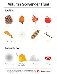 printable autumn scavenger hunt play cbc parents