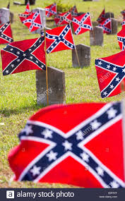 Rebel Flag Image Confederate Rebel Flags Decorate Grave Markers Of Soldiers Killed