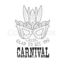 hand drawn monochrome mardi gras carnival vintage promotion sign