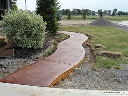 cozy with concrete outdoor stained concrete
