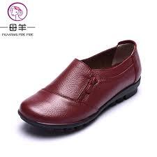 maternity shoes muyang women shoes 2017 new fashion genuine leather single flat