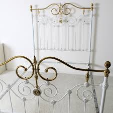 Brass Bed Frames Vintage Iron And Brass Bed Frame Ebth
