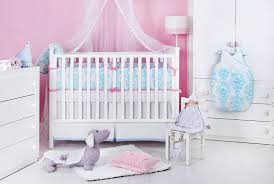 Blue Crib Bedding Set Blue And Pink Crib Bedding Set Blue Pink Damask Nursery Decor