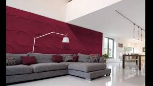 exciting red textured wall panels living room with maroon gray