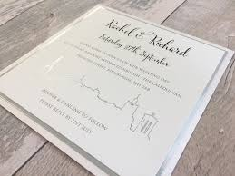 edinburgh skyline wedding invitations luxury wedding invitations