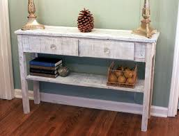 Rustic Sofa Table by Whitewashed Sofa Table White Hallway Table Whitewash Entry
