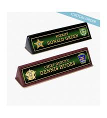 Wooden Desk Name Plates Name Plates For Sheriff Department
