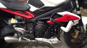 str 675 street triple oil change with castrol fully synth 10w40
