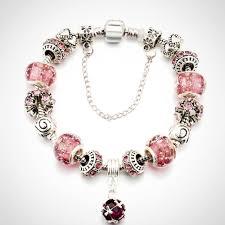 crystal glass bracelet images Ladies silver color crystal glass charm bracelet aleya collections jpg