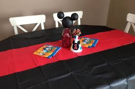 mickey mouse birthday party table setup brokeasshome com