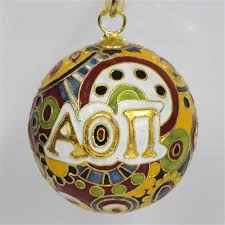 alpha omicron pi psychedelic cloisonne ornament