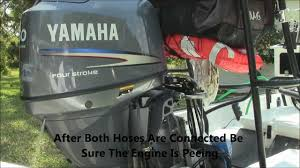 flushing yamaha outboard boat engine youtube