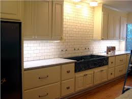 white subway tile kitchen backsplash all home ideas ceramic subway tile kitchen backsplash design