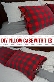 how to make a diy bed pillow case with ties step by step tutorial