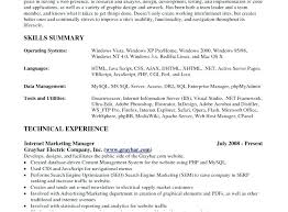 exle skills resume skills summary for resume cliffordsphotography