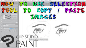 how to use the selection tool clip studio paint youtube