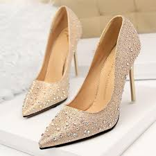 rhinestone wedding shoes pointed toe high heels red bottom shoes