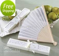 wedding favors fans and white silk fan wedding favors summer pratical
