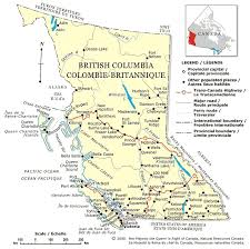 map of bc map of columbia bc
