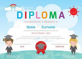 kindergarten certificates certificates kindergarten and elementary kids diploma certificate