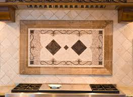 Kitchen Backsplash Water Jet Cut Tile Designs With Medallions - Kitchen medallion backsplash