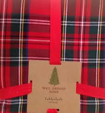 Christmas Table Cloths by Well Dressed Home Tartan Plaid Tablecloth Round 60 Elegant
