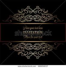 abstract background antique luxury black gold stock illustration