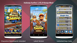 subway surfers modded apk subway surfers 1 45 0 apk kenya africa unlimited coins