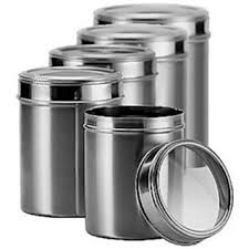 kitchen storage canisters stainless steel kitchen storage canisters with see through lid
