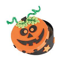 halloween pumpkin boxes craft kit orientaltrading com oriental