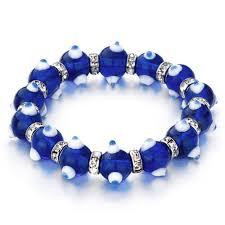 swarovski eye bracelet images Evil eyes bracelets glass eye beads sapphire swarovski bracelet jpg