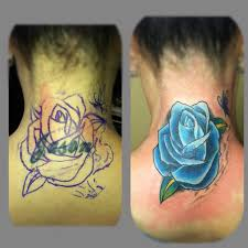 butterfly before and after cover up neck tattoos photo 3 2017