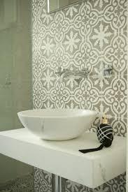 guest bathroom with jatana tiles and marble basin brooke aitken