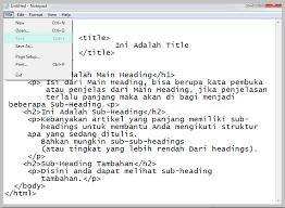 tutorial membuat web html sederhana cara membuat halaman web sederhana nyekrip