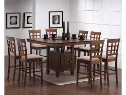 round dining sets dining set carter dining table 9 piece counter height dining