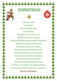 poems of christmas evie has used word to produce a christmas