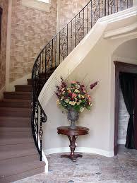 curved staircase railing with scroll border decoración casas