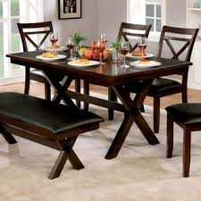 solid wood 60 inch dining bench brown free shipping today